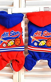 FUN OF PETS® NBA All Star Pattern Coat with Hoodie and Pants for Pets Dog (Assorted Sizes and Colours)