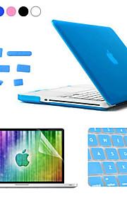 Enkay 4 in 1 mat harde beschermhoes + screen protector + keyboard film + anti-stof stekkers voor MacBook Pro 15.4 inch