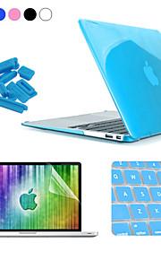 Enkay 4 in 1 crystal harde beschermhoes + screen protector + keyboard film + anti-stof stekkers voor MacBook Air 11,6 inch
