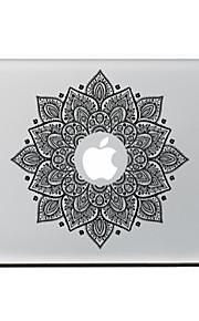fiore nero autoadesivo della pelle decorativa per l'aria macbook / pro / pro con display retina