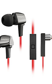 WHF-128 High Quality 3.5mm Noise-Cancelling Mike In Ear Earphone for Iphone and Other Phones(Assorted Colors)