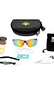 サイクリング/キャンピング&ハイキング/フィットネス、ランニング&ヨガ/ボート遊び/オートバイ ユニセックス 's アンチフォグ/傷つきにくい/偏光/100% UV/耐衝撃/ミラーリング/風防/取り外し可能 ラップ スポーツグラス
