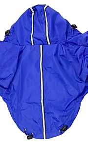 Adjustable Rain Coat with Reflect Light for Dogs (S-XL,Assorted Color)