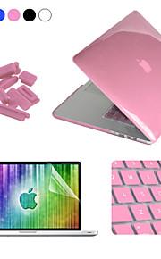 """Enkay 4 in 1 crystal beschermhoes + screen protector + keyboard film + anti-stof stekkers voor macbook pro retina 13.3 """""""