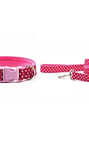 Oxford-The Cute Dots Pet Collar and Leash Suit (Assorted Sizes,Colors)