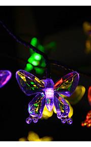 20-ledede 4.8m solenergi bownot hengende lamps2a batteri christmas bryllup dekorasjon