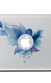 blauwe bloem decoratieve skin sticker voor MacBook Air / Pro / Pro met Retina-display