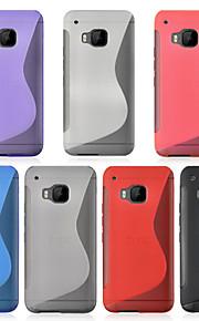 caso angibabe ultra delgado de TPU para el htc cubierta del teléfono de un m9 (color clasificado)
