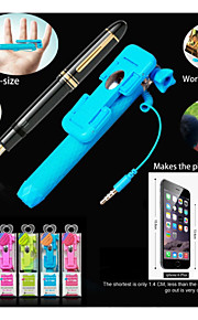 Fashion New Portable 13.4cm Supreme Mini III Pen Size Gift Wired Selfie Stick for Smart Phone iPhone 5/6 Samsung Sony