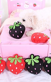 Squeaking Strawberry-shaped Plush Toy for Pets Dogs (Assorted Colours)