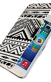 svarta och vita ränder mönster hela kroppen fallet med hål för iphone 6 plus