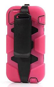 ny inverkan bältesklämma extrema tull militära fall inbyggd skärm för iphone 5 / 5s (blandade färger)