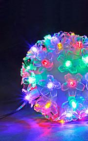 50 førte ballen lys varm hvit / hvit / multi farget parti / home dekorasjon