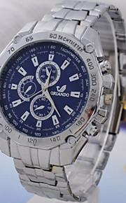 relógios masculinos três olhos seis pin relógio da correia de moda
