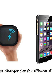 [iPhone 6 Plus Wireless Charger Set] Qi Wireless Charger and 2mm Super Thin Wireless Receiver Case for iPhone 6 Plus