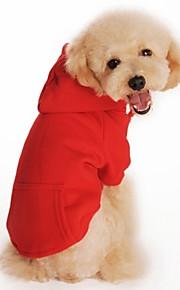 Casacos/Camiseta/Camisola com Capuz - Vermelho/Preto/Cinzento/Laranja - de Algodão/Malha polar - Casamento/Fantasias - para Cães/Gatos