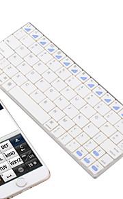 K77 mini usb oplaadbare handheld bluetooth v3.0 80-key draadloze toetsenbord - wit