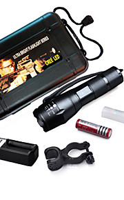 MEILV 5 Mode Lumens LED Flashlights/Bike Lights/Handheld Flashlights 18650Adjustable Focus/Waterproof/Rechargeable/Clip