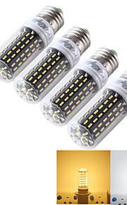 youoklight® 4pcs E14 / E27 9w 800lm cri>80 3000K / 6000K 96 * smd4014 LED-ljus majs glödlampa (110-120V / 220-240V)
