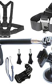 7-in-1 Gopro Accessory kit for Gopro hero4/3+/3/2/1 Sj4000 SjCAM Sj5000 Wifi