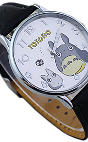 Kinder totoro Vorwahlknopf PU-Band niedlichen Cartoon-Armbanduhr