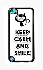 Keep Calm and Smile Design Aluminum High Quality Case for iPod Touch 5