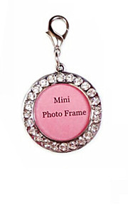 Multi-Functional Pets ID Tag with Cute Round Pendant Charm Style for Dogs and Cats