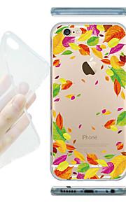 MAYCARI® Falling Leaves Transparent Soft TPU Back Case for iPhone 6