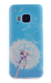 HTC M9에 대한 민들레 패턴 투명 TPU 소재 전화 케이스