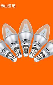5 יח 'FSL E14 3 w 9 SMD 3528 220 v lm החם נר לבן / מגניב לבן ג AC נורות 220-240