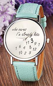 relógio de estilo de moda pulseira de couro de pulso de quartzo analógico das mulheres (cores sortidas)