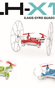 2.4GHz 4ch mini rc quadcopter rullende / flying nano drone LH-x11 med seks aksen innebygd gyro