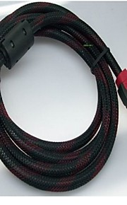 The HDMI network dual ring 1.4V high quality HD TV cable support 1080P, 3D