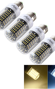 youoklight® 4st E14 / E27 12w 1200lm cri>80 3000K / 6000K 138 * smd4014 LED-ljus majs glödlampa (110-120V / 220-240V)