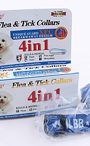 FUN OF PETS® 3 Pieces A Set Unique 4 in 1 Flea& Tick Collar for Pets Dogs Adjustable Neck 21-30cm