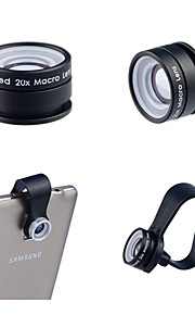 apexel клип на 3 элемента 3 группа профессиональный HD 20x объектива в макро для Samsung Galaxy записку и / других смартфонов