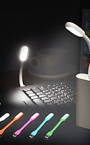 5pcs HRY® Flexible USB LED Night light Book lamp For Laptops Mobile Power Charger Reading Bulb Nightlight(Random Color)