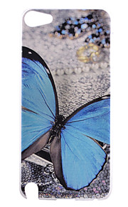 blu modello pc farfalla caso duro della copertura posteriore per iPod touch 5