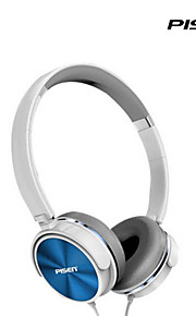 pisen 스테레오 헤드셋 회전 조절 헤드 밴드 표준 3.5mm의 유선 오버 이어 헤드폰 1.5M 와이어