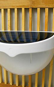 hry® 6-lysdioder kontroll vanntett utendørs gjerdet hage sti vegglampe belysning solenergi lys