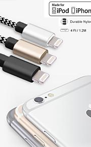 MFI certyfikat 4 stóp (1,2 m) piorun do kabla USB do synchronizacji i ładowania do Apple iPhone 5 / 5s / 6/6 plus / ipad mini