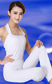 Women's Yoga Suits Sleeveless Breathable / Lightweight Materials White Yoga / Fitness