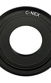 c preto lente de montagem para Sony NEX-5 NEX-3 NEX-C3 nex5 NEX-VG10 adaptador c-nex