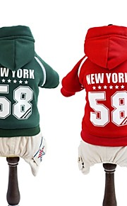 FUN OF PETS® Sport Style Number 58 NewYork Printing Coat with Hoodie Jumpsuit for Pets Dogs