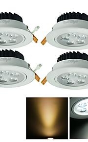 youoklight 4 개 5w CRI = 80 500lm 3000 / 6000K 5 높은 전원 (AC85 ~ 265V) 따뜻한 화이트 / 화이트 빛이 매입 형 스팟 조명 주도