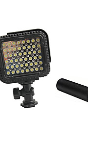 CN-lux480 48 leds videolys foto lampe til Canon Nikon kamera videokamera 5600K / 3200K med metal håndtag