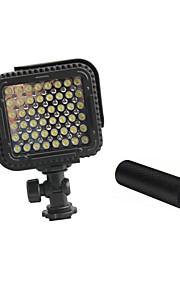 cn-lux480 48 leds luz de vídeo lâmpada foto para canon nikon vídeo câmera filmadora 5600k / 3200k com alças de metal