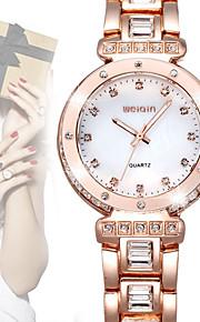 weiqin® mærke luksus kvinder watch krystal diamant rhinestone mode ure rosa guld kvarts kjole armbåndsur