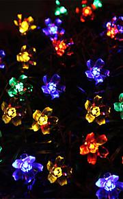 50 førte streng med lysene solar Maomao ball streng lys vanntett utendørs Christmas Lights streng hagen lys