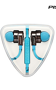 Pisen HiFi In-ear Earphones Flat Wire Tangle-free Headphones with Remote for Iphone, iPod, iPad and Mic
